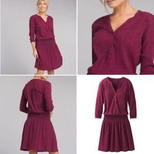 prAna | Sugar Pine Dress in Black Cherry Bodhi M